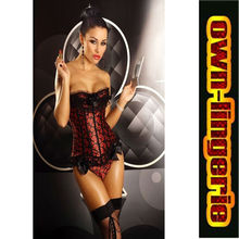 red corset with lace trim cheap corset ,hot sales sexy corsets online  women's clothing intimates shaper w3325