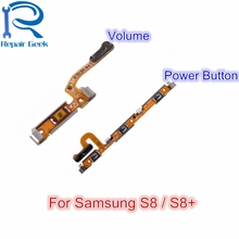 40pcs/Lot For Samsung Galaxy S8 G950 / S8+ G955 New Top Quality Volume Button + Power on/off Flex Cable Replacement For S8 Plus