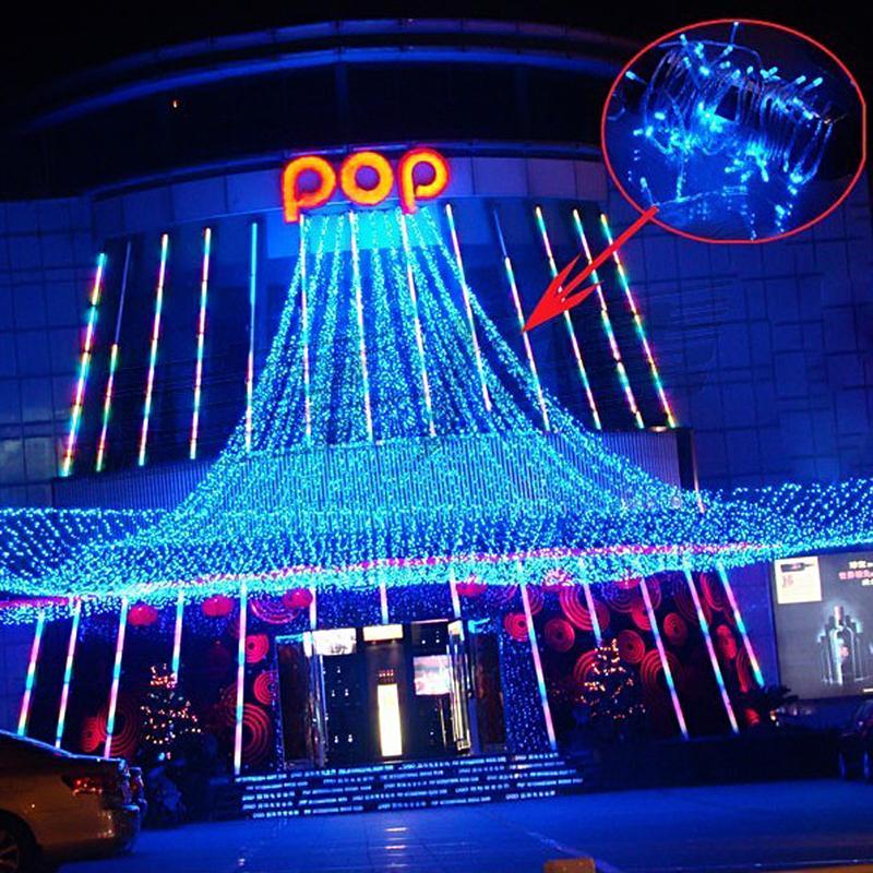 10M 220V 100-LED 8-Mode Bright Blue LED String Light with US Plug for Christmas/ Wedding/ Party/ Garden