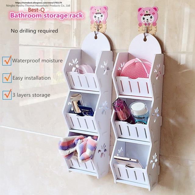 gratis verzending badkamer rack muur opbergrek thuis consolidatie eenvoudige montage vloer
