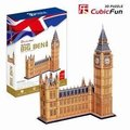 Candice guo! 3D puzzle toy CubicFun paper model jigsaw game updated version London big Ben