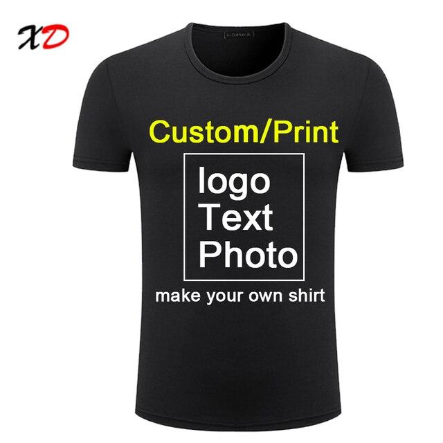 Camiseta personalizada para hombre verano Camisetas manga corta Camisetas  cuello redondo hombres estampado texto logo diseño cfaebb685ba52