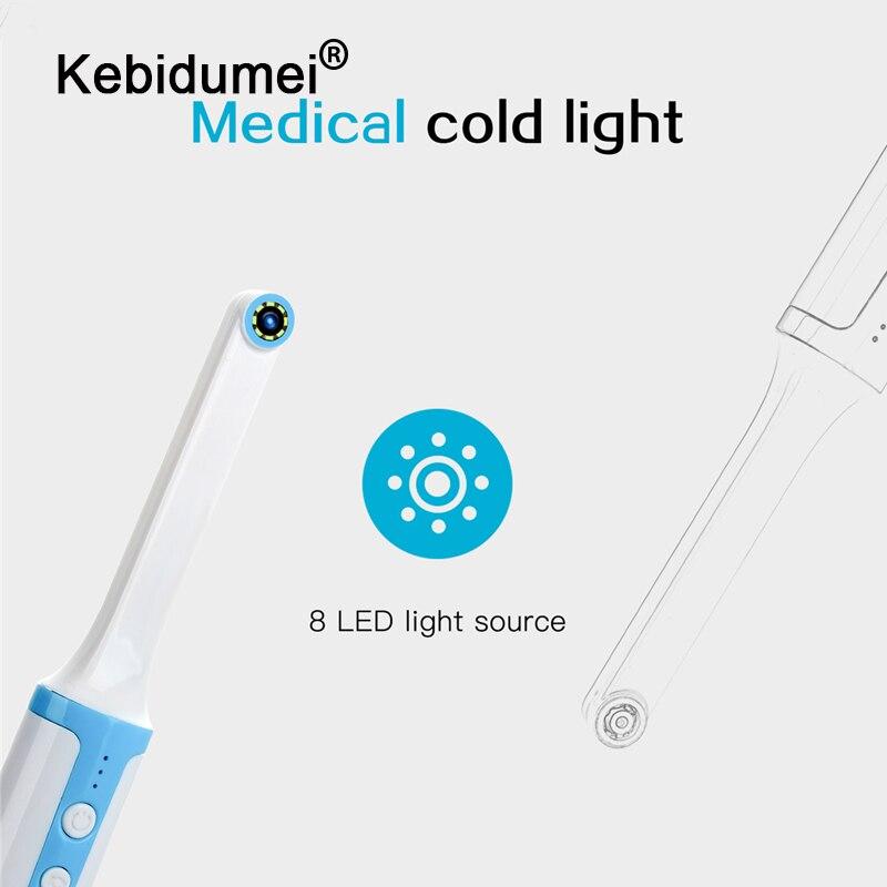 Беспроводной Wi-Fi стоматологических Камера 1080p HD интраоральный эндоскоп Регулируемый 8 Светодиодный светильник USB кабель для рта для стомато...