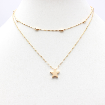 2019 Simple Love Heart Choker Necklace For Women Multi Layer Beads Chocker collar ras du cou collier femme Statement jewelry 3