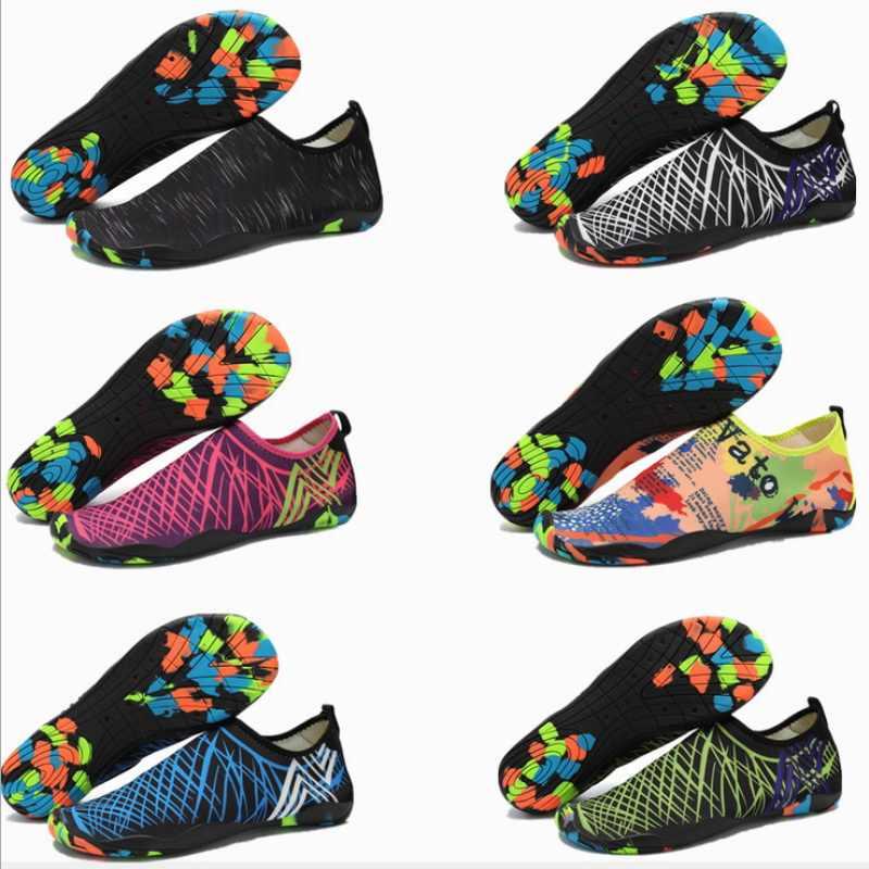 BƠI Nước AQUA Giày Nam Nữ Đi Biển Cắm Trại Giày Người Lớn Unisex Aqua Phẳng Mềm Mại Đi Bộ Người Yêu Yoga Giày Không trượt Giày