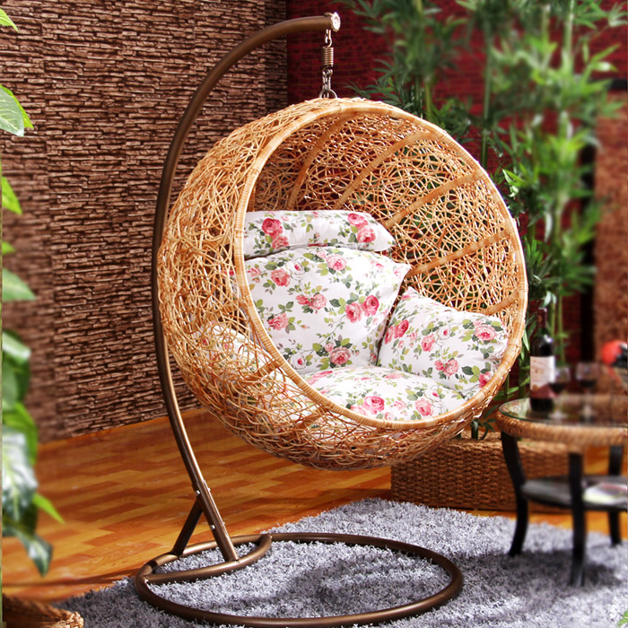Hanging basket chair swing hanging rattan chairs-in ...