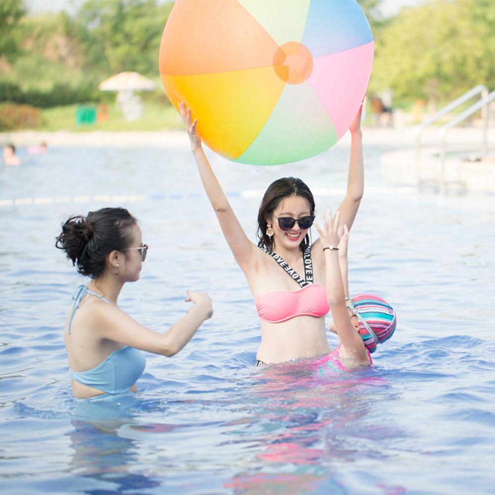 Children's oversized color rainbow Inflatable ball Beach Ball (about 80CM in diameter after inflating) 2310 Jul 23
