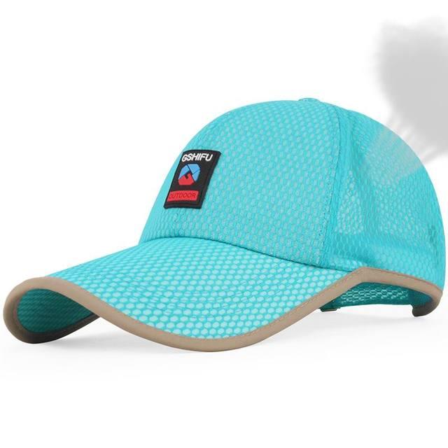 2016 nova marca unisex Protetor Solar sol-shading cap malha boné de beisebol do chapéu masculino verão fora esporte chapéu de sol respirável