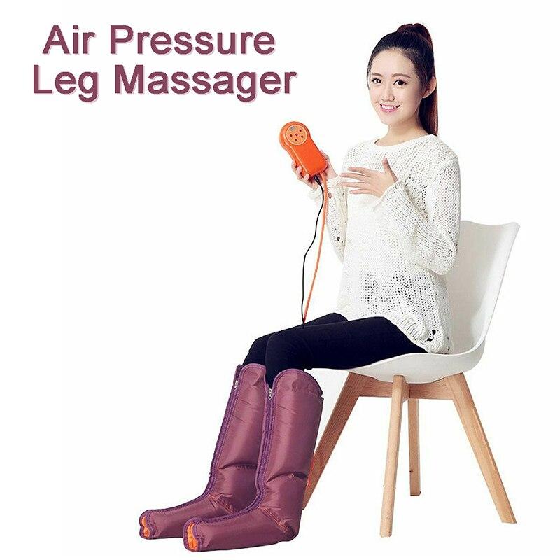 Masseur électrique de jambe de Compression d'air enveloppant des chevilles de pied masseur de physiothérapie de pression de mollet favorisent la Relaxation de Muscle de sang