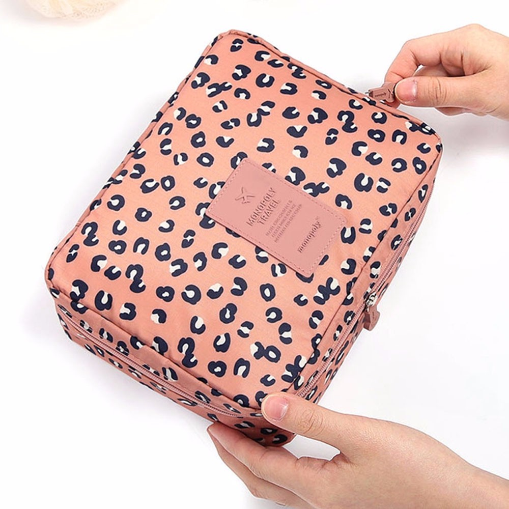 Woman Bag Pockettrip Clear Cosmetic Makeup Toiletry Travel Kit Organizer Leopard Trousse Maquillage Femme Neceser Mujer Peque O