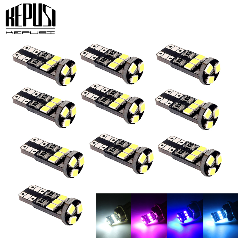 T10 501 W5w Car Side Light Bulbs Error Free Canbus 13 Smd Led Xenon Hid White
