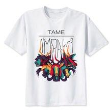9581557c97 Tame Impala camiseta de los hombres de verano O cuello blanco juventud t  camisa casual blanco anime camisetas para hombres camis.