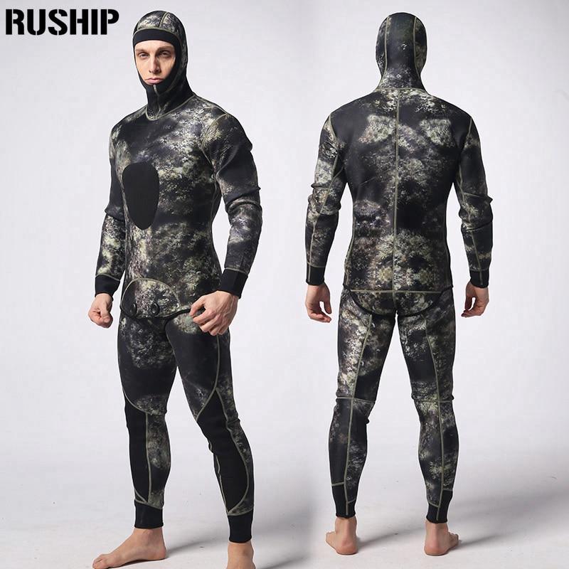 soft 3mm Diving suit neoprene men pesca diving spearfishing wetsuit snorkel swimsuit Split Suits combinaison hat