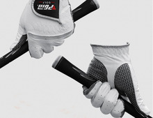 High Grade Professional Golf Gloves Men s Genuine Leather Breathable Golf Gloves Outdoor Sports Gloves Free