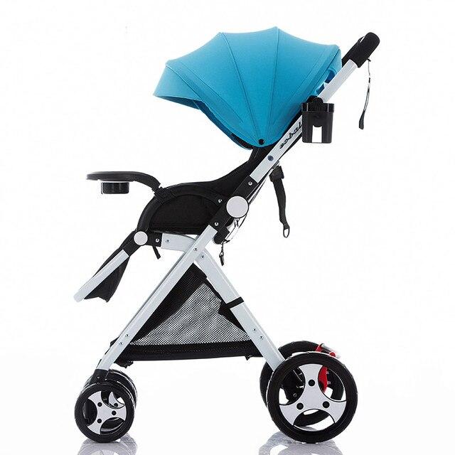 Высокая пейзаж коляска легкий портативный складной подвеска может лежать может спать ребенка корзину