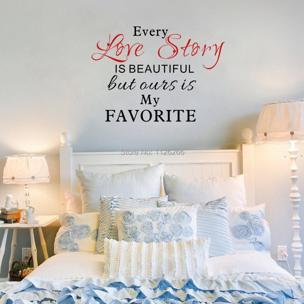 Our Love Story Is My Favorite Quotes Vinyl Wall Decals Stickers Art
