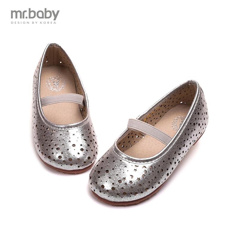 Mr.baby Korean version of the new princess shoes girls shoes stars hollow ...