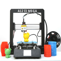 A12 3D Printer I3 Mega Plus Size Full Metal Frame Platform Desktop Industrial Grade High Precision 3d Drucker Kits Filament