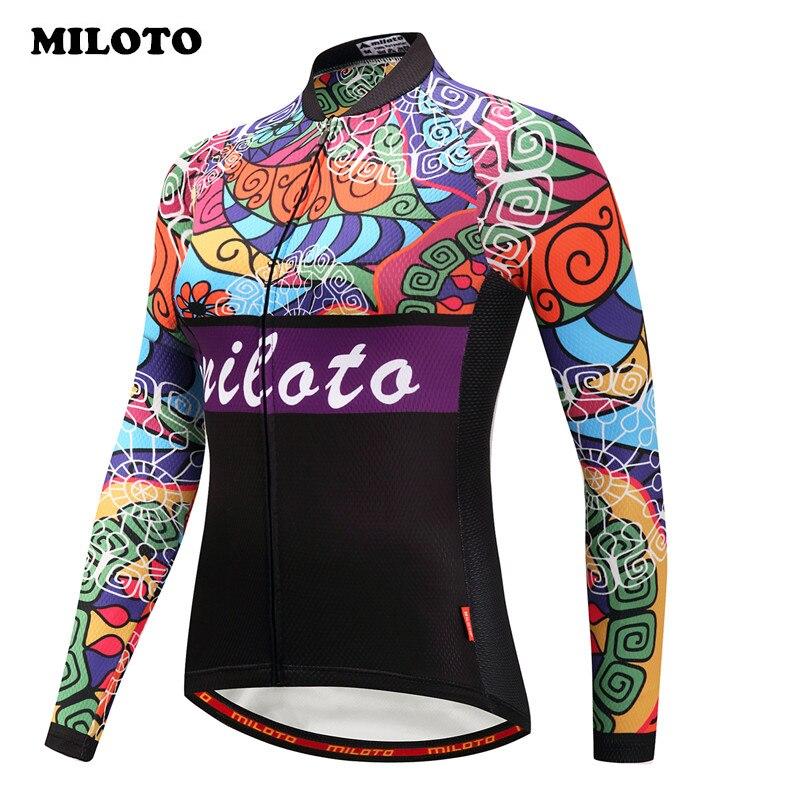Miloto Pro Team Winter Radfahren Jersey Frauen Racing Sport Fahrrad Kleidung Thermische Fleece Langarm Winddichte MTB Bike Jersey