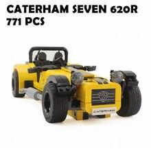 Новые 771pcs yile 006 Caterham Seven 620R Набор спортивных блоков для спортивных автомобилей Детские игрушки из кирпича, совместимые с lego 21307 21008