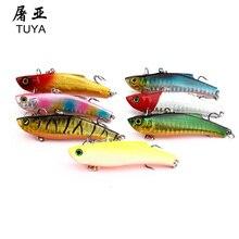7pcs/set 7.3cm 18.95g Wobbler Fishing Lure Minnow Bass Lifelike Bionic VIB Lure 6# Owner Hooks peche isca artificial 37#
