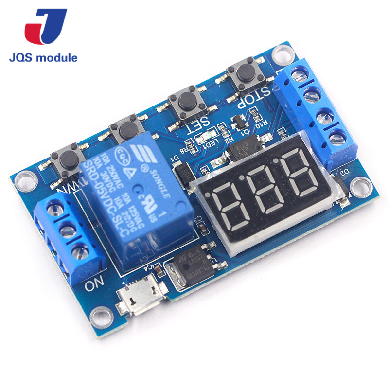 DC 6-30V Support Micro USB 5V LED Display Automation Cycle Delay Timer Control Off Switch Delay Time Relay 6V 9V 12V 24V mxfans rc 1 10 2 2 crawler car inflatable tires black alloy beadlock pack of 4