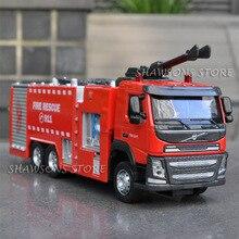 1:50 литой металл VOLVO пожарная машина модели грузовиков игрушки Насос Реплика звук и светильник