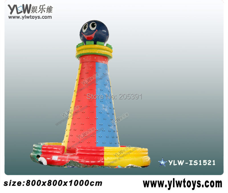 Jeux de sport gonflables escalade, équipement de jeu gonflable d'amusement, mur gonflable de grimpeur de jeu