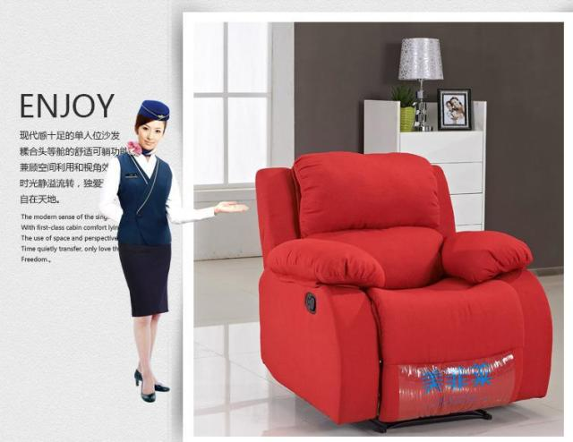 First class cabin sofa fabric features a small apartment living room  modern minimalist washable