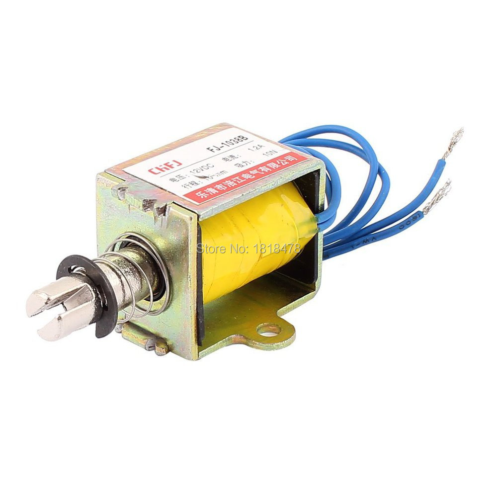 FJ-1038 Push Pull Type DC Electromagnet Magnet Solenoid 10mm 10N DC 12V 1.2A hot selling imp nvr 8036k with 9hdd