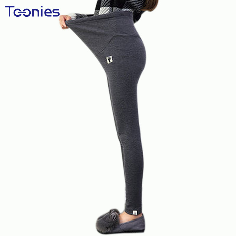 Cotton Maternity Clothes Pants Elastic Care Belly Leggings for Pregnant Women Plus Size Solid Thin Trousers