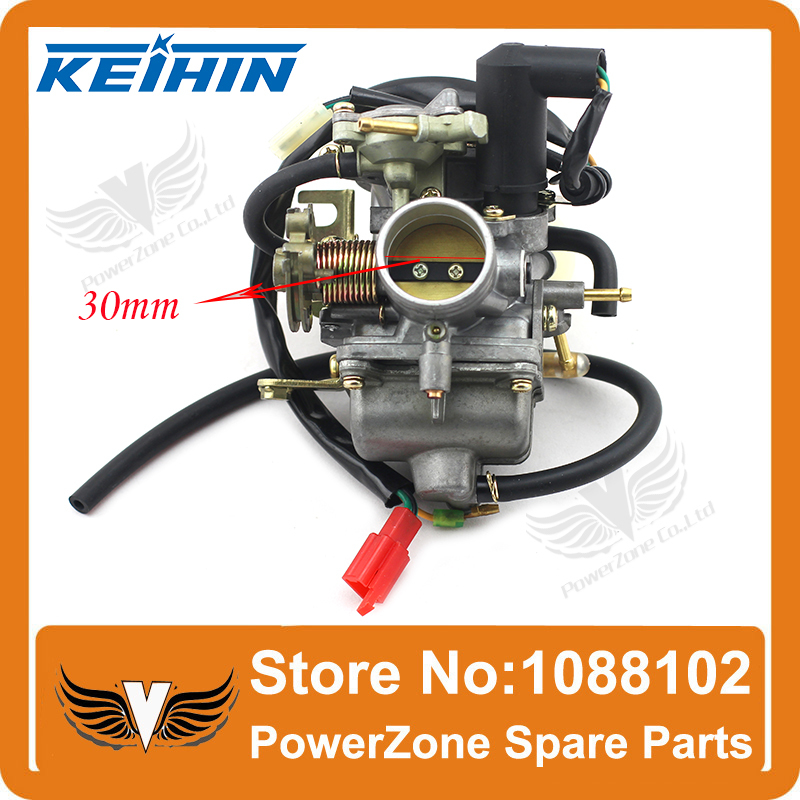 ФОТО KEIHIN CVK 30mm Carburetor Fit GY6 250cc & CH CN CF250 250cc Motorcycle Water-cooled ATV, Go Kart, Moped & Scooter Free Shipping
