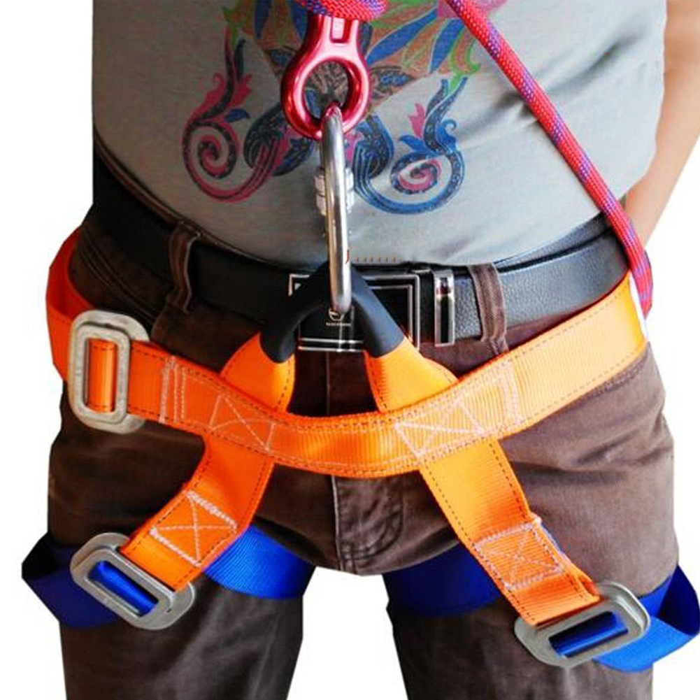 Outdoor Sports Climbing Harness Safety Seat Belts Rock Climb Nylon Belt Climber Saftey Straps image