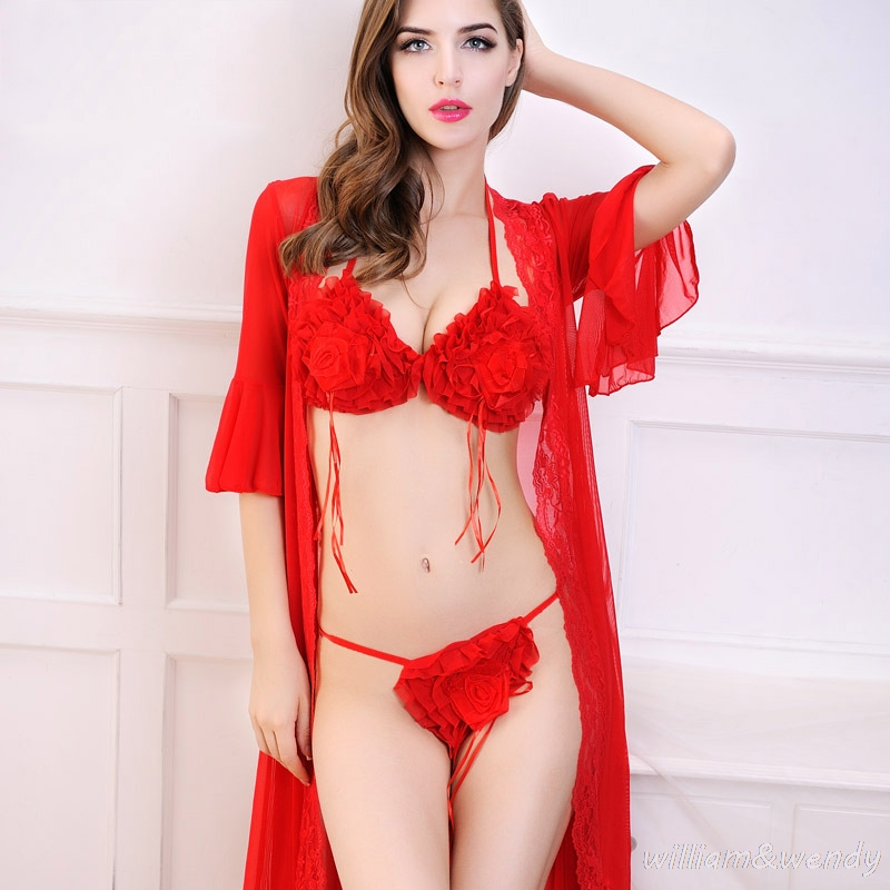 Womens <font><b>Red</b></font> <font><b>Chemise</b></font> Sleepwear Sexy Black Lace Transparent Nightdress <font><b>Large</b></font> Size Homewear Suit Erotic Lingerie Babydolls Intimate
