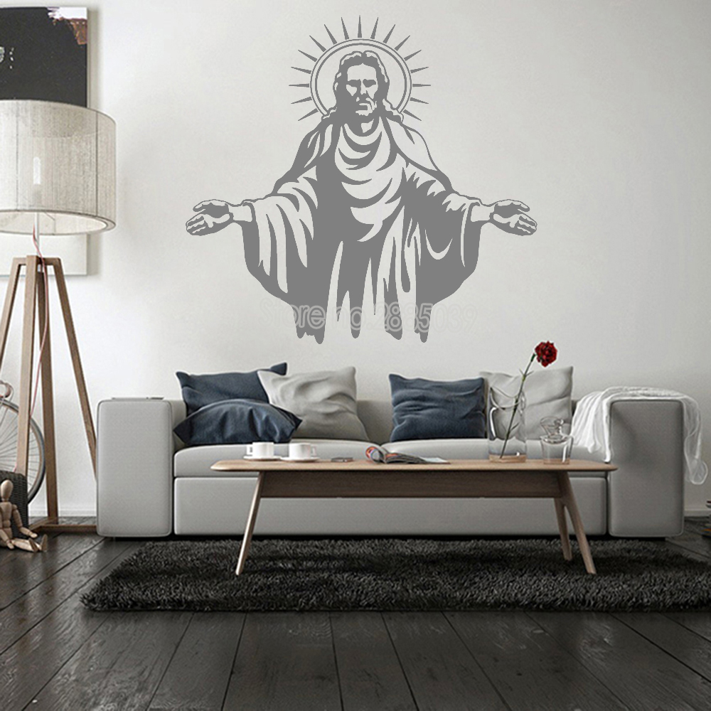 Wall Decal of Jesus Christ Living Room Stickers Church Decals Decor ...