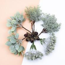 6 шт., искусственные растения, декоративные цветы, венки, свадебные украшения для дома, аксессуары, сделай сам, Подарочная коробка, колпачок, скрапбукинг, флористика