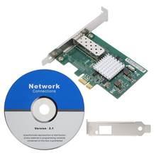 Для Intel 82576EB PCI-E один Порты и разъёмы гигабитный сетевой карты волоконно-оптический адаптер E1G42EF 10/100/1000 Мбит/с Скорость передачи данных