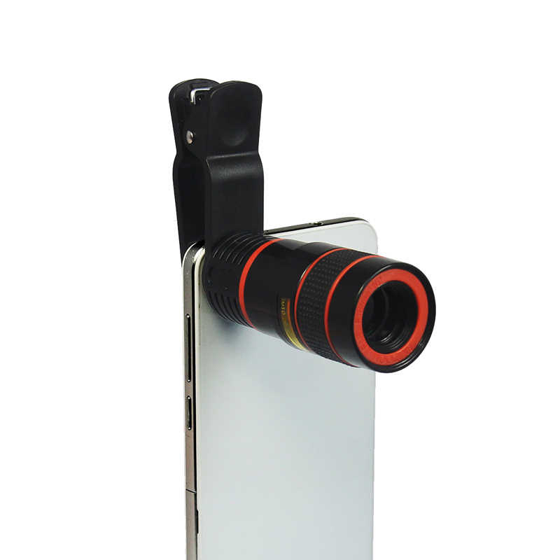 クリップオン8x光学ズーム望遠望遠鏡カメラ電話レンズ用iphone x 8 8プラス7 7プラス6 6 sプラスse 5 5 s 5c 4 4 s 3gs 3グラム