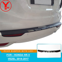 rear step bumper covers with LED light for honda vezel hrv h rv 2014 2015 2016 2017 exterior car styling new accessories YCSUNZ