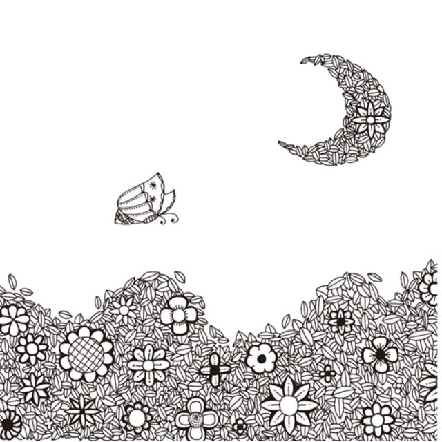 Online Shop One Flower One World colouring book Relieve Stress ...