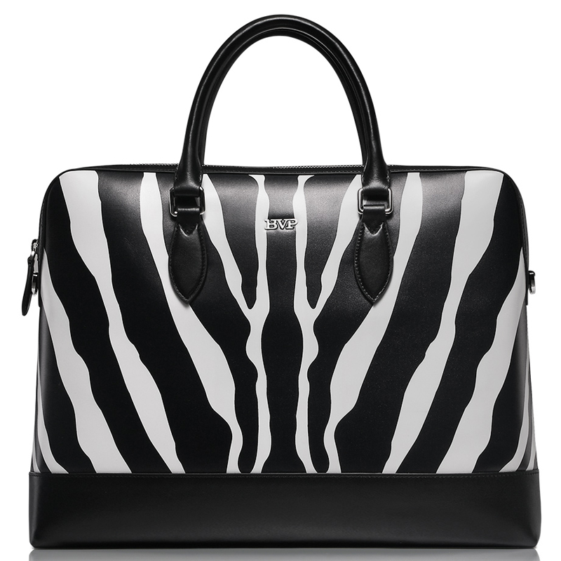 BVP High-end Branded Genuine Leather Zebra Texture Men's Business 15