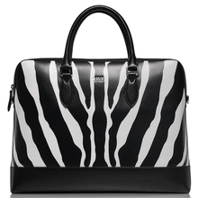 BVP High-end Branded Genuine Leather Zebra Texture Men's Business 15″Laptop Briefcase Tote Attache Messenger Document  Bag T1036