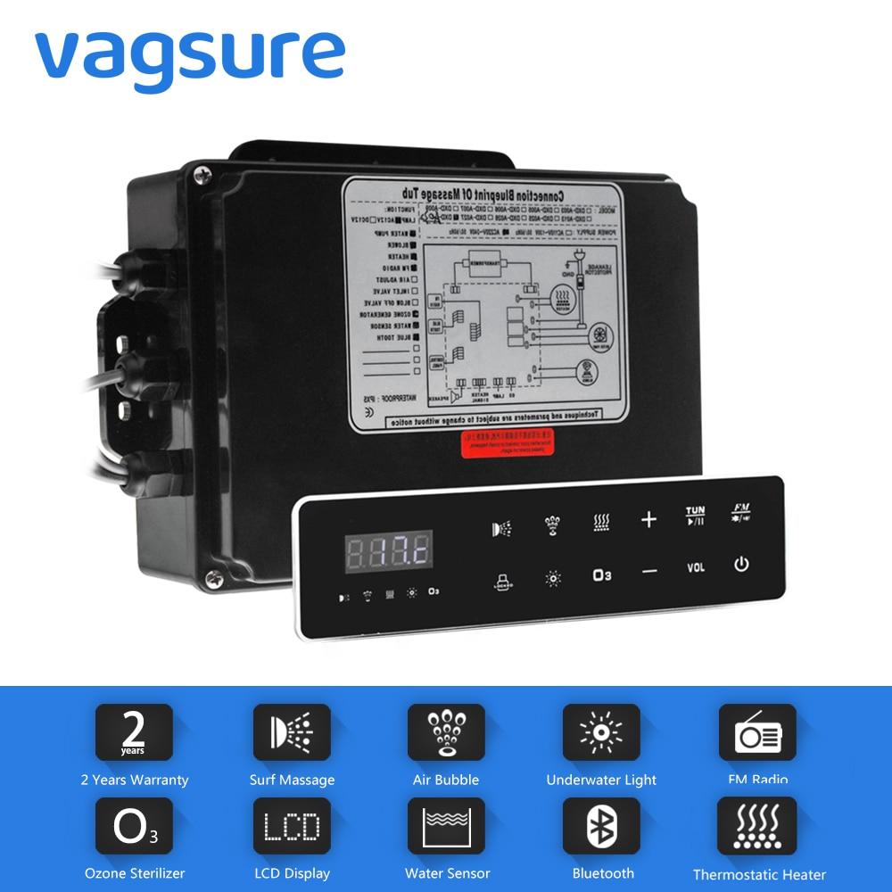 Painel de controle digital da c.a. 110 v/220 v com tela de toque lcd spa combinação bolha ar bomba água massagem banheira controlador kits-0