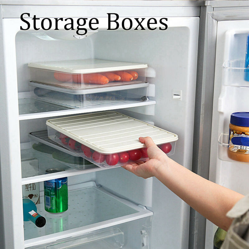 New Food Grade Food Storage Boxes Refrigerator Meal Prep Containers for Dumplings Vegetables for Seafood 1pc