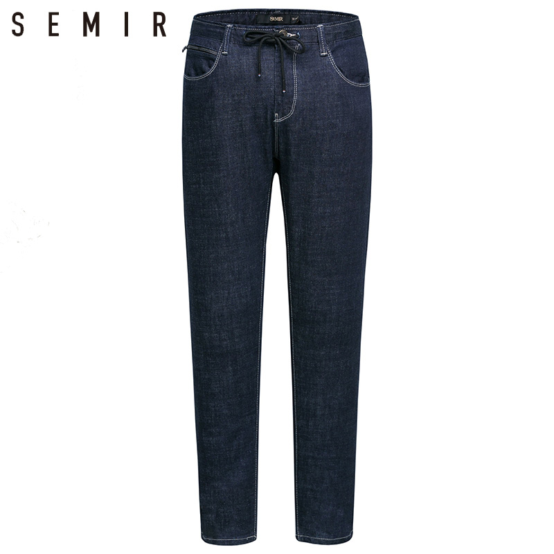 SEMIR jeans male classic jeans denim dark blue jeans Casual winter fashion Trousers cheap Straight pants mens stretch jeans