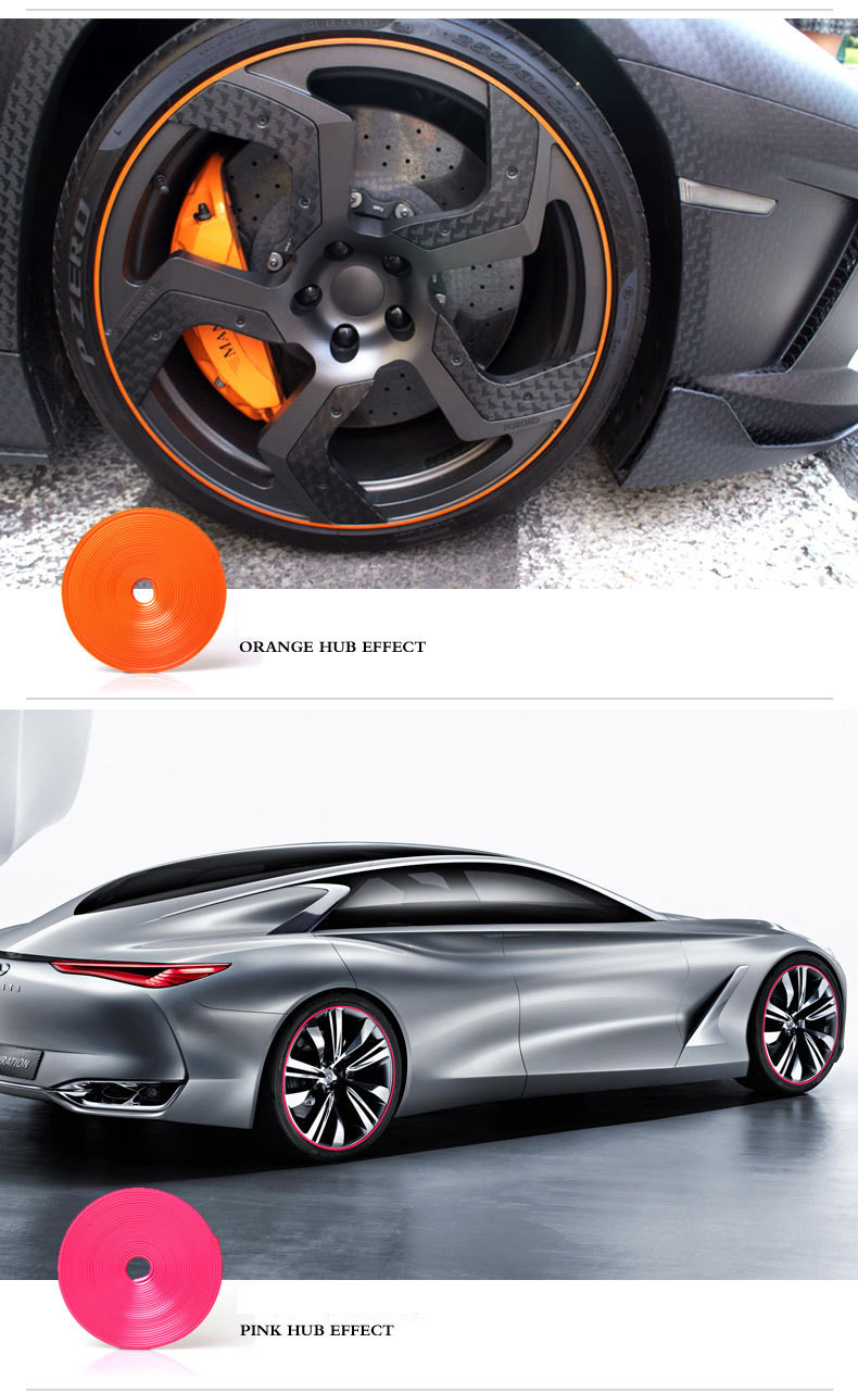 New car sticker design - 8m New Car Styling Car Wheels Sticker Rim Guard Tire Decoration Protector Car Styling