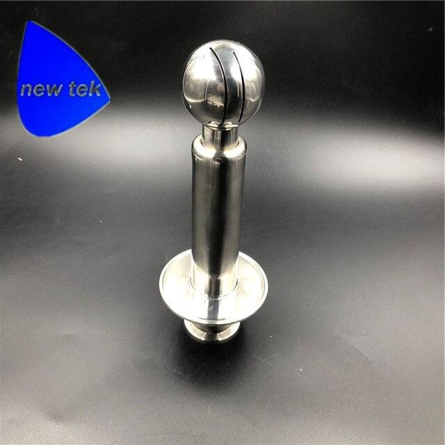 Di rotazione CIP Spruzzo Palla 1.5 pollici (OD 50.5 millimetri) tri Trifoglio Compatibile Ingresso saldato in 3 pollici (OD 91mm) Tri Morsetto CapDi rotazione CIP Spruzzo Palla 1.5 pollici (OD 50.5 millimetri) tri Trifoglio Compatibile Ingresso saldato in 3 pollici (OD 91mm) Tri Morsetto Cap