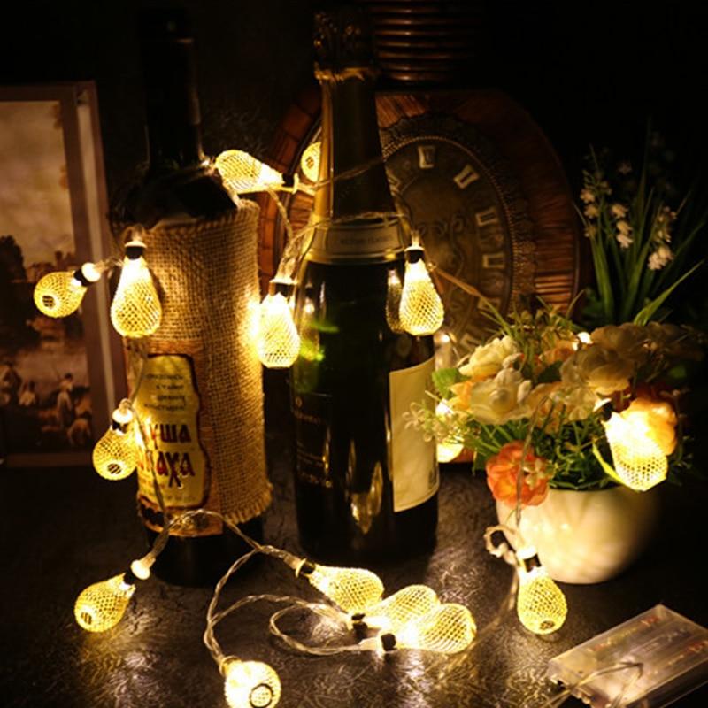 LED String Light Water Drop 20 LED Lights String Lovely Dinner Table Bottle Decoration String Lights