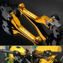 цена на Motorbike Motocross CNC Pivot Pit Dirt Bike Brake Clutch Levers Handle For KTM 400XC-F 400 XCF 400 XC F 400XCF 2007 2009 2010