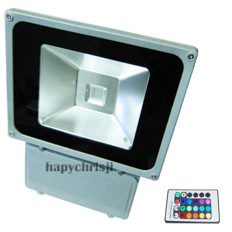 Best quality Free shipping AC85-265V 100w led floodlight outdoor RGB flood light